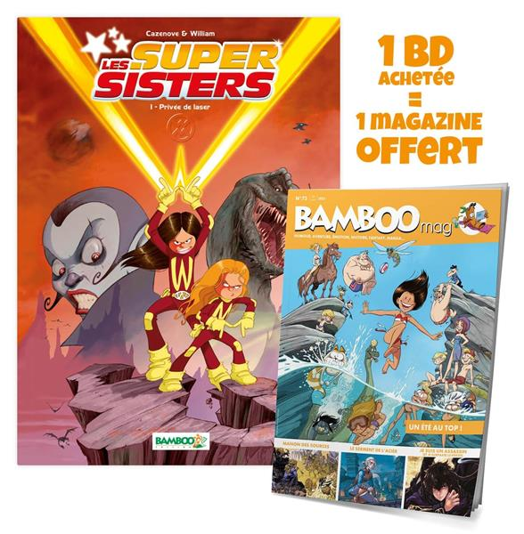 Sisters (les) - les supersisters - tome 01 + bamboo mag offert