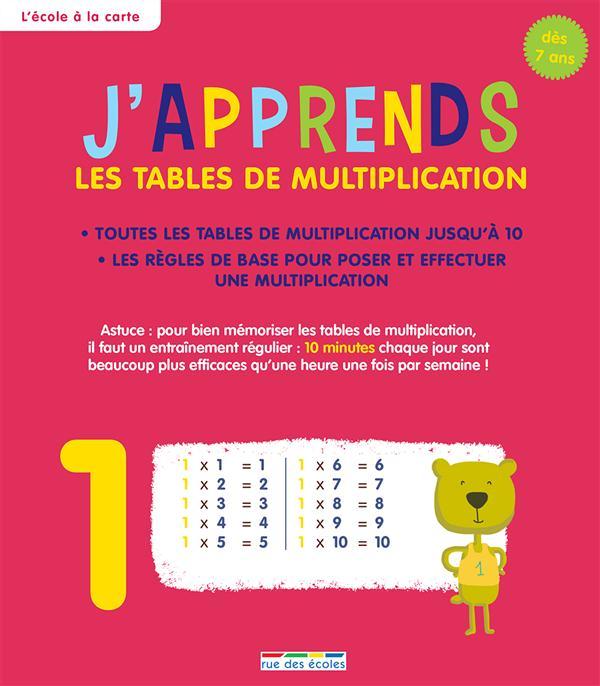 J'APPRENDS LES TABLES DE MULTIPLICATION