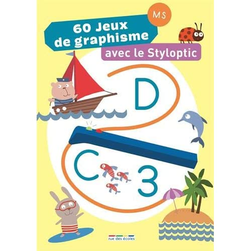 60 JEUX DE GRAPHISME AVEC LE STYLOPTIC 4 ANS +