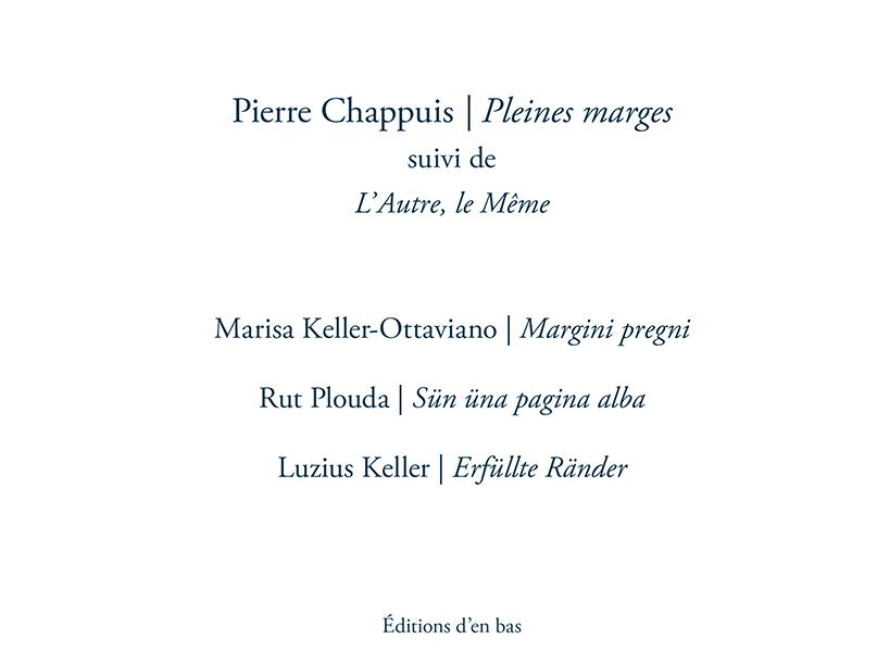 PLEINES MARGES - L'AUTRE, LE MEME