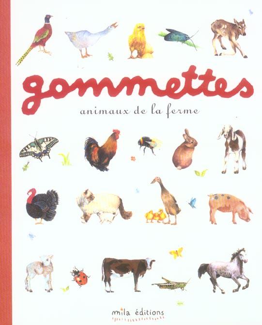 ANIMAUX DE LA FERME GOMMETTES