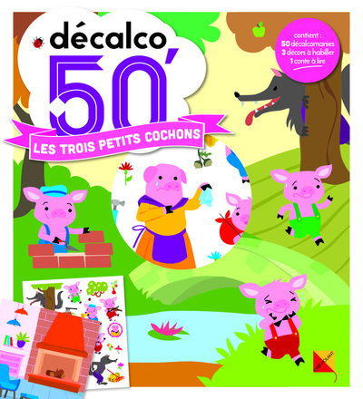 LES 3 PETITS COCHONS - DECALCO 50