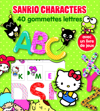 SANRIO CHARACTERS LETTRES - GOMMETTES 40 LIC