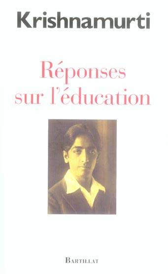 REPONSES SUR L'EDUCATION