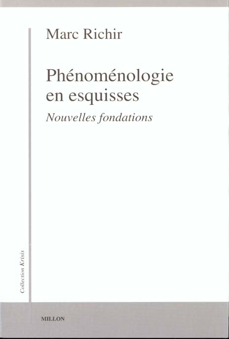 PHENOMENOLOGIE EN ESQUISSES