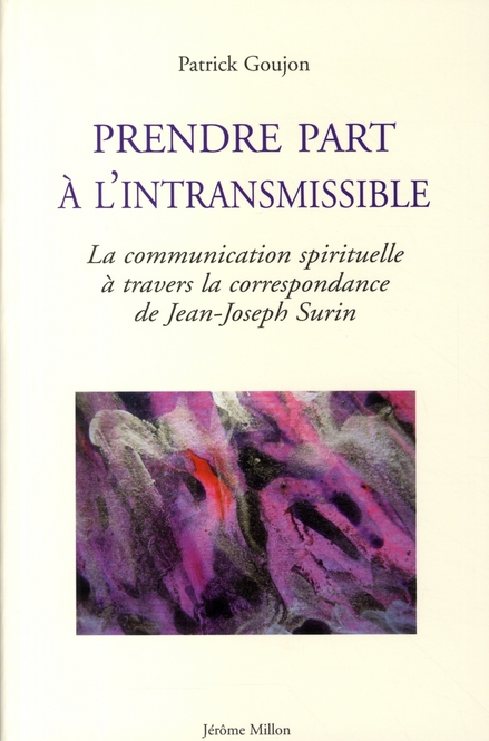 PRENDRE PART A L'INTRANSMISSIBLE