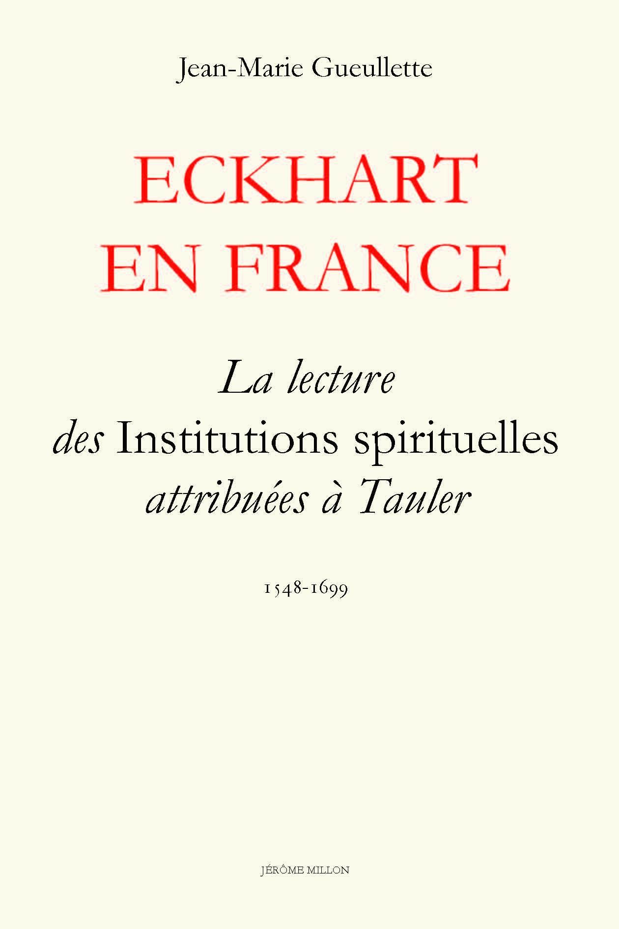 ECKHART EN FRANCE
