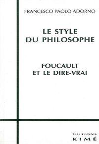 LE STYLE DU PHILOSOPHE