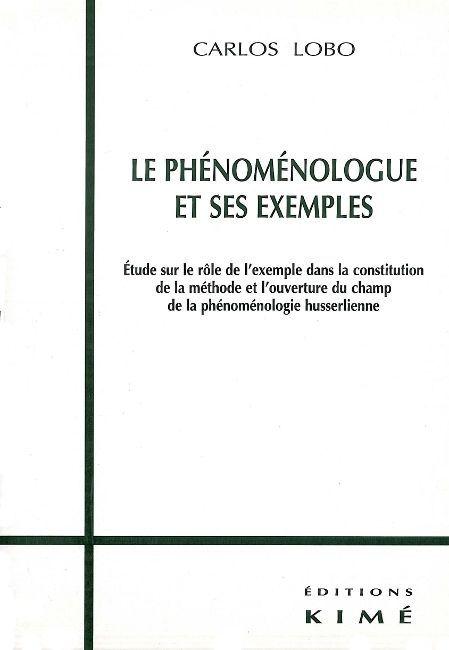 LE PHENOMENOLOGUE ET SES EXEMPLES