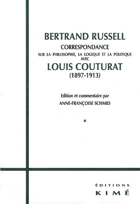 CORRESPONDANCE RUSSELL / COUTURAT(2VOLS)