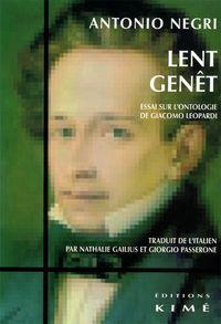 LENT GENET - ESSAI SUR L'ONTOLOGIE DE G.LEOPARDI