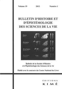 BULLETIN D'HISTOIRE ET D'EPISTEMOLOGIE...19 / 1