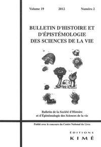 BULLETIN D'HISTOIRE ET D'EPISTEMOLOGIE...19 / 2