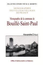 BOUILLE-SAIN-PAUL (MONOGRAPHIE DE LA COMMUNE)
