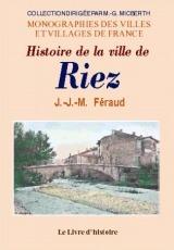 RIEZ ((HISTOIRE DE LA VILLE)