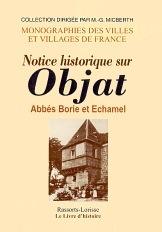 OBJAT (NOTICE HISTORIQUE SUR)
