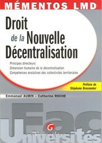 MEMENTOS LMD - LE DROIT DE LA NOUVELLE DECENTRALISATION