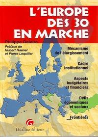 L'EUROPE DES 30 EN MARCHE - MECANISME DE L'ELARGISSEMENT, CADRE INSTITUTIONNEL, ASPECTS BUDGETAIRES