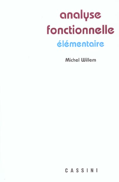 ANALYSE FONCTIONNELLE ELEMENTAIRE