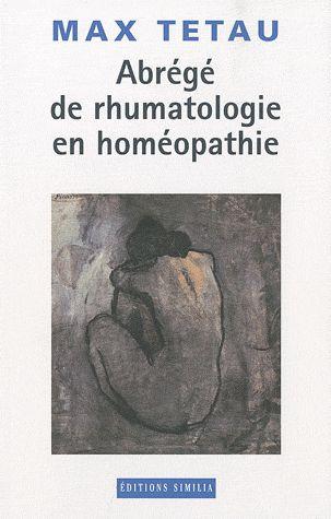 ABREGE DE RHUMATOLOGIE EN HOMEOPATHIE