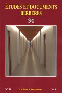 ETUDES ET DOCUMENTS BERBERES 34