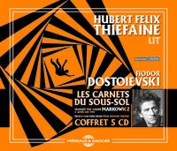 HUBERT FELIX THIEFAINE LIT LES CARNETS DU SOUS-SOL EN 5 CD AUDIO