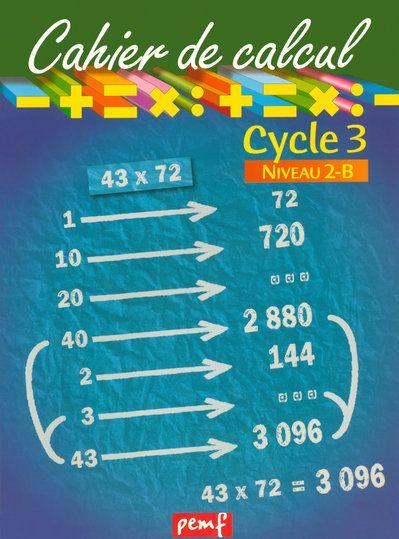 CAHIER DE CALCUL CYCLE 3 NIVEAU 2B