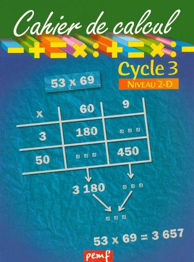Cahier de calcul cycle 3 niveau 2d