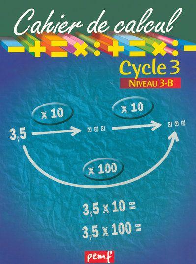 Cahier de calcul cycle 3 niveau 3b