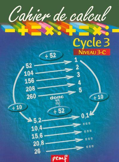 CAHIER DE CALCUL CYCLE 3 NIVEAU 3C