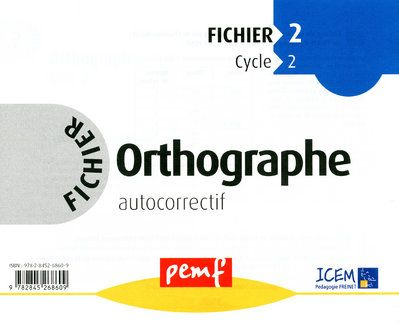 FICHIER D\'ORTHOGRAPHE 2 CYCLE 2