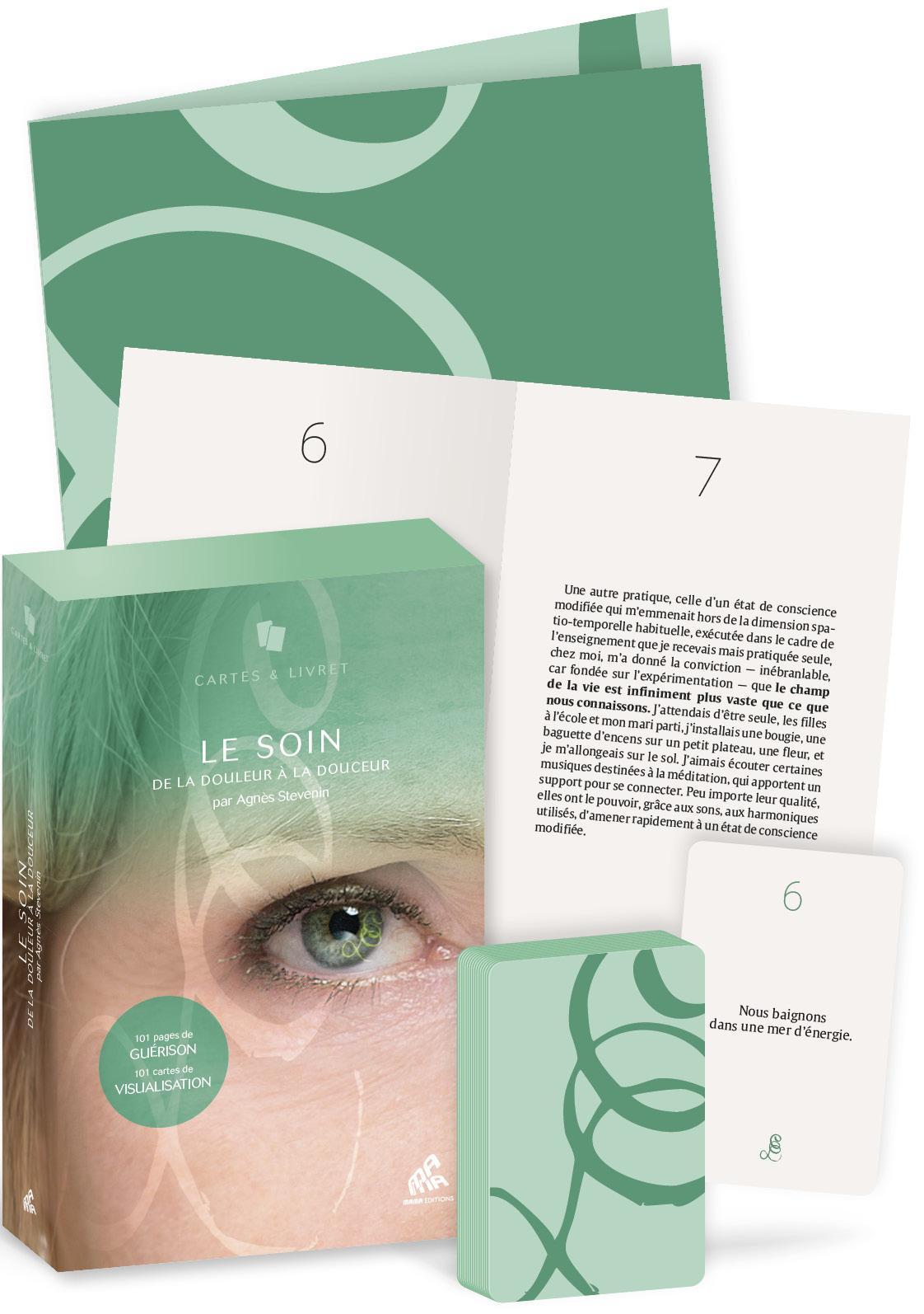 LE SOIN - COFFRET - 101 CARTES DE VISUALISATION, 101 PAGES DE GUERISON