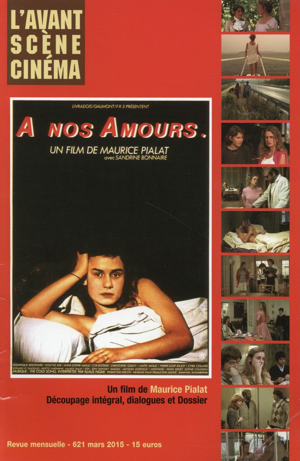 L'AVANT-SCENE CINEMA N 621 A NOS AMOURS (MARS 2015)