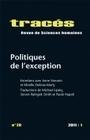 TRACES, N 20/2011. POLITIQUES DE L'EXCEPTION