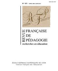 REVUE FRANCAISE DE PEDAGOGIE, N 187/2014. VARIA
