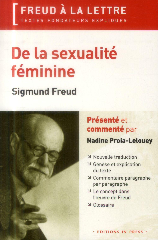 DE LA SEXUALITE FEMININE - SIGMUND FREUD (1931)