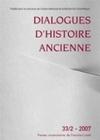 DIALOGUES D'HISTOIRE ANCIENNE 33-2/2007