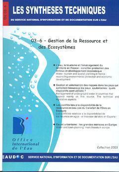 GESTION DE LA RESSOURCE ET DES ECOSYSTEMES (LES SYNTHESES TECHNIQUES DU SERVICE NATIONAL D'INFORMATI