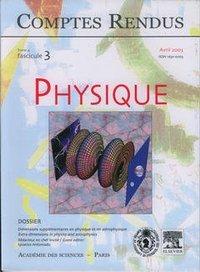 COMPTES RENDUS ACADEMIE DES SCIENCES, PHYSIQUE, TOME 4, FASC 3, AVRIL 2003 : DIMENSIONS SUPPLEMENTAI