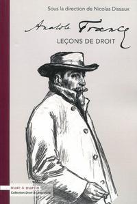 ANATOLE FRANCE - LECONS DE DROIT