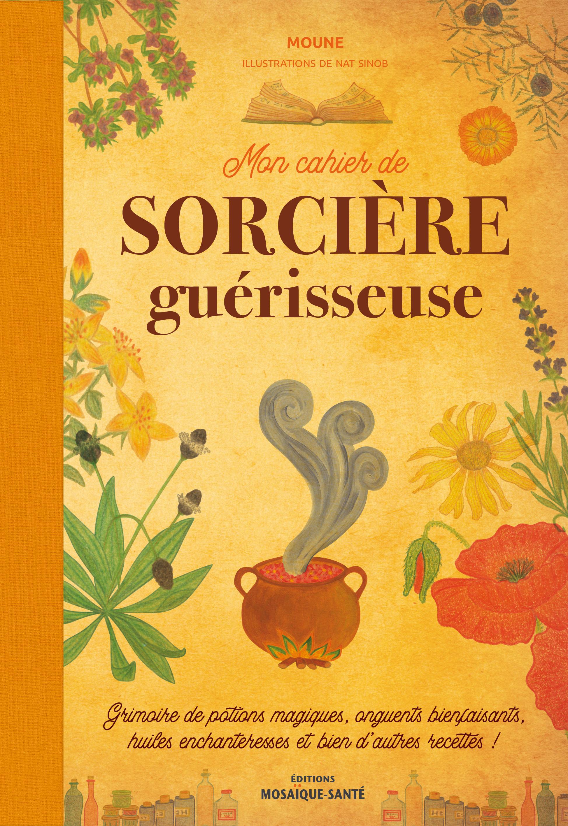 MON CAHIER DE SORCIERE GUERISSEUSE - GRIMOIRE DE POTIONS MAGIQUES, ONGUENTS BIENFAISANTS, HUILES ENC