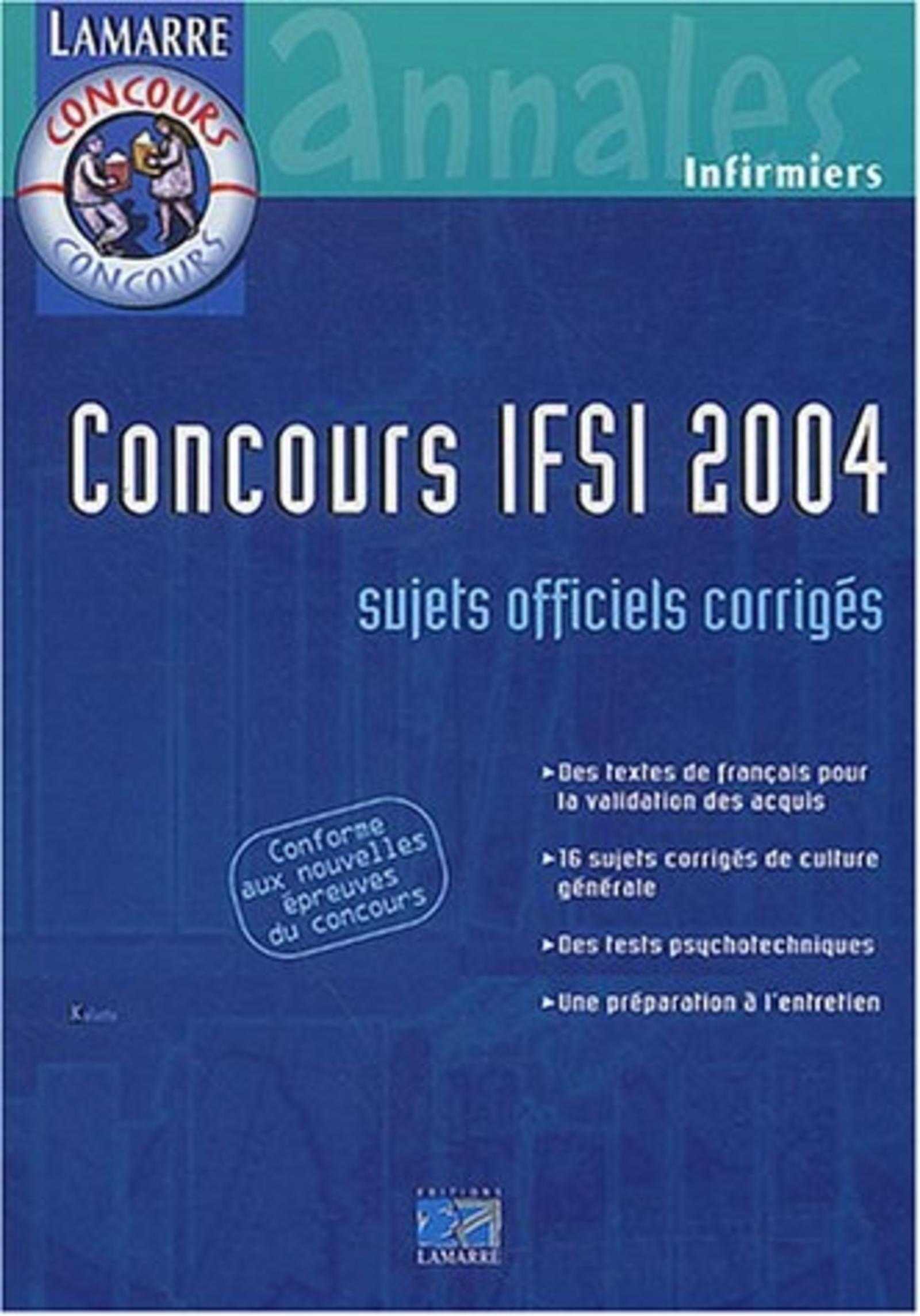 CONCOURS IFSI 2004 - INFIRMIERS