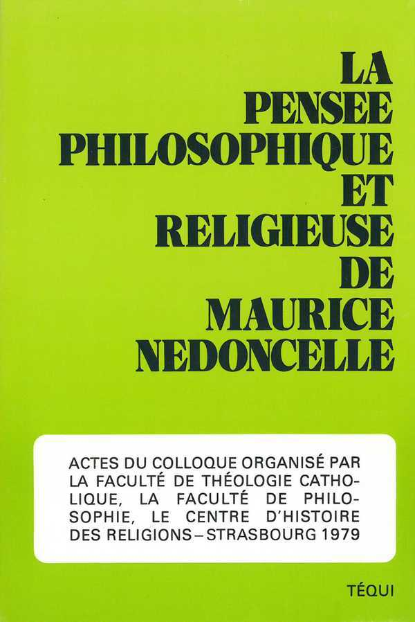 PENSEE PHILOSOPHIQUE MAURICE NEDONCELLE