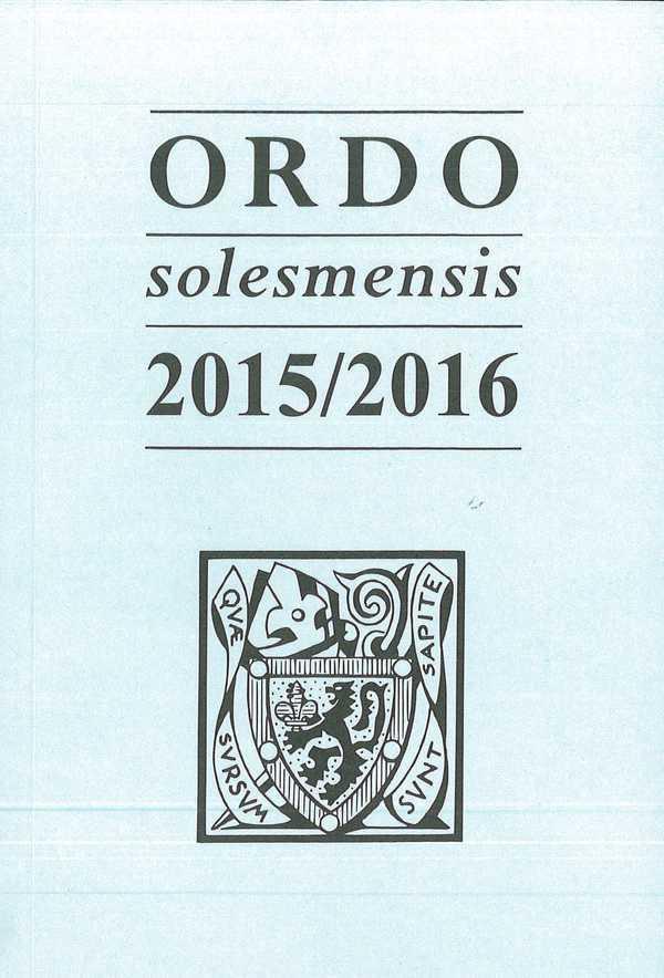 ORDO SOLESMENSIS 2015 / 2016