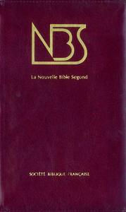 NOUVELLE BIBLE SEGOND EDITION SANS NOTES (SEMI-RIGIDE SIMILICUIR BORDEAUX TRANCHES OR)