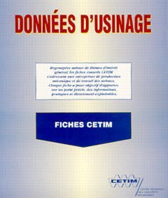 DONNEES D'USINAGE FICHES CETIM 3D43