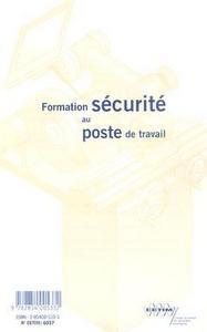 FORMATION SECURITE AU POSTE DE TRAVAIL EN 51 FICHES CDROM 6D27