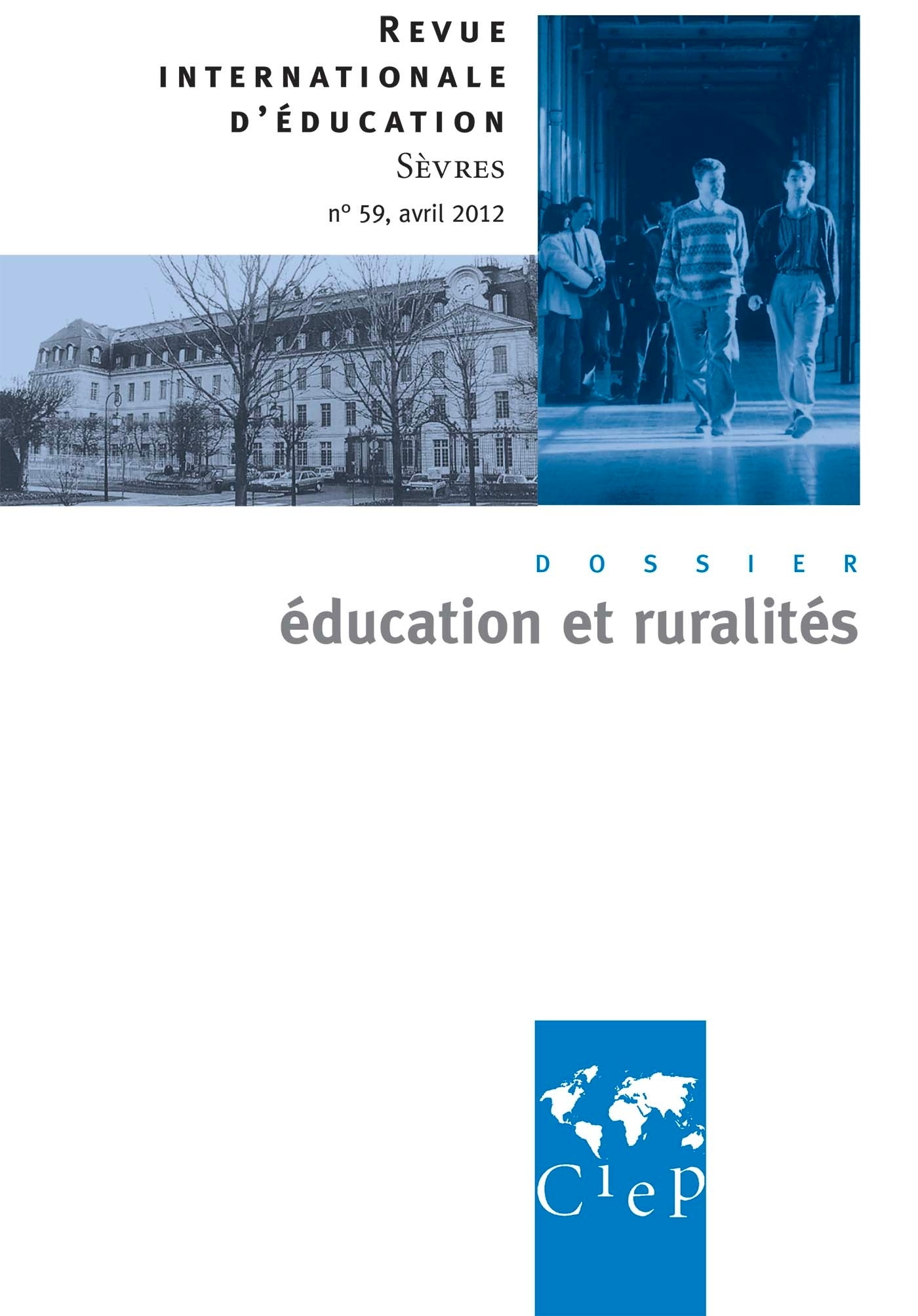EDUCATION ET RURALITE  - REVUE INTERNATIONALE D'EDUCATION SEVRES 59
