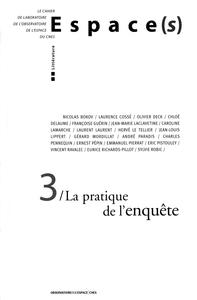 ESPACE(S) N 3 LA PRATIQUE DE L'ENQUETE