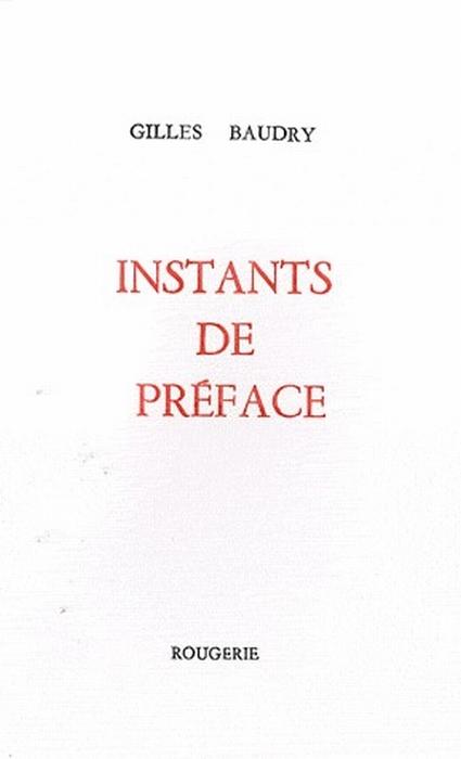 INSTANTS DE PREFACE